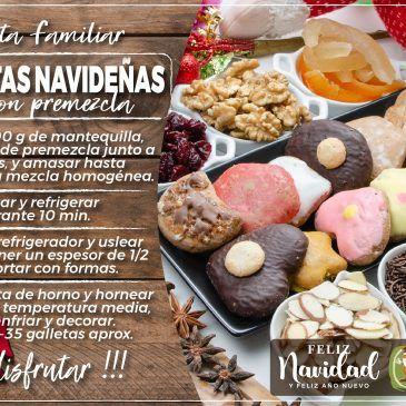 Galletas Navideñas con PreMezcla Saldaña